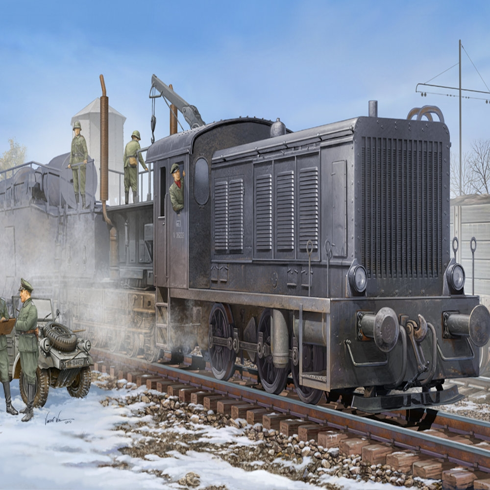 hobbyboss 1:72 - german wr360 c12 locomotive