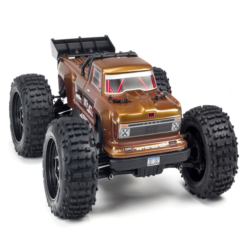 arrma outcast 1/10th scale brushless 4wd 4s stunt truck artr