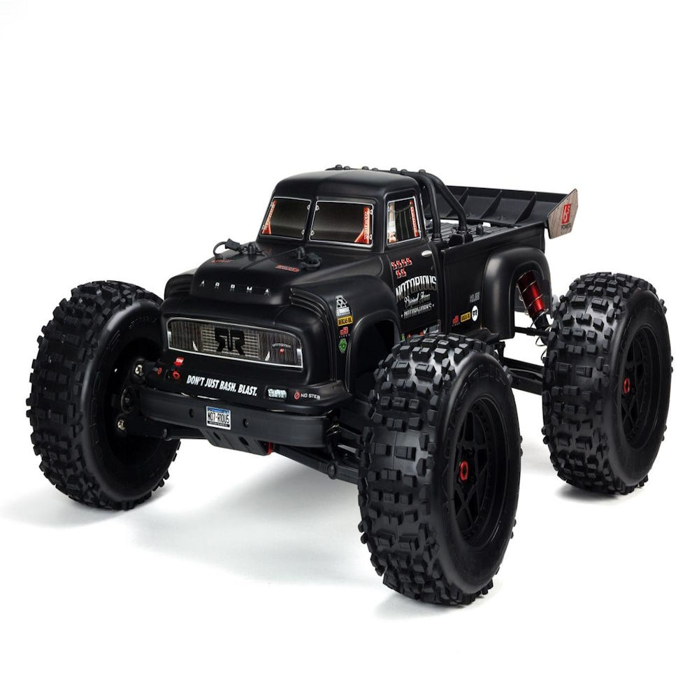 arrma notorious 1/8th scale brushless 4wd 6s truck artr