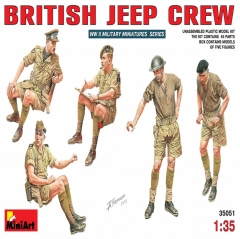 miniart 1:35 - british jeep crew