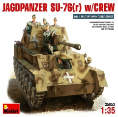 miniart 1:35 - jagdpanzer su-76 (r) with crew