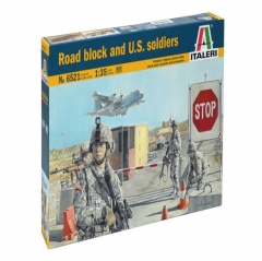 italeri 1:35 - road block accessories