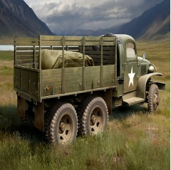 hobbyboss 1:35 - us gmc cckw 352 wood cargo truck