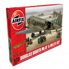 airfix douglas dakota mkiii with willys jeep 1:72
