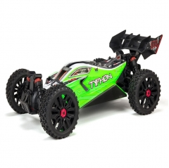arrma typhon 1/8th scale mega brushed buggy green rtr