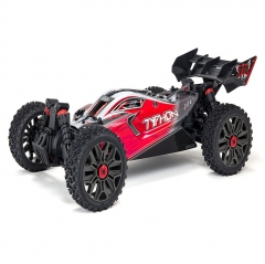 arrma typhon 1/8th scale 4wd 3s blx firma slt3 speed buggy artr