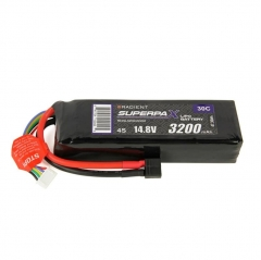 radient 3200mah 14.8v 30c lipo battery pack t type connector