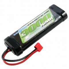 voltz nimh 7.2v sc-3000mah stick pack 7.2v with deans connector